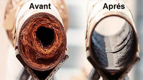Votre canalisation avant et après un détartrage
